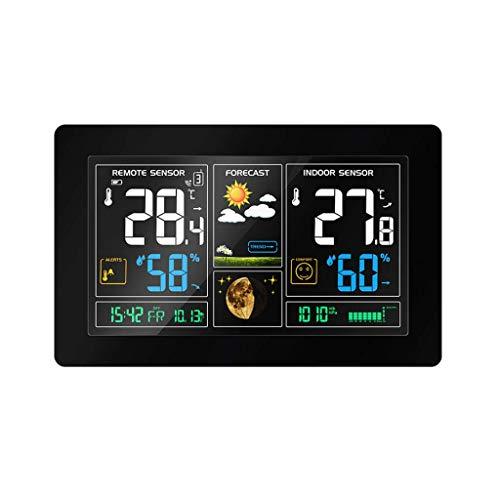 genral Wetterüberwachung Uhren Kabellose Wetterstation Innen Außen Display Wecker Temperaturwarnungen Vorhersage Wetterüberwachung Uhren Wetterüberwachung Uhren Wetterüberwachung Uhren