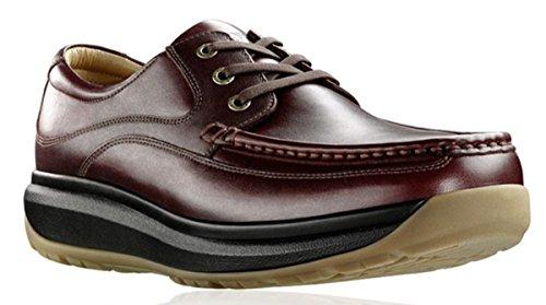 Joya - Zapatos de cordones de cuero para hombre, color marr�