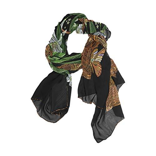 Damen Schal Lilien Blumen Schmetterling Weidenkorb Fashion Print Lange Schals Halstuch Wrap