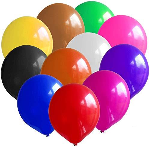 Yisscen 12 Stück 36 Zoll Grosse Luftballons Bunt, Riese Luftballons Bunt, Latex Luftballons, für Helium & Luft - als Deko für Hochzeit & Geburtstag & Party (12 Farbe)
