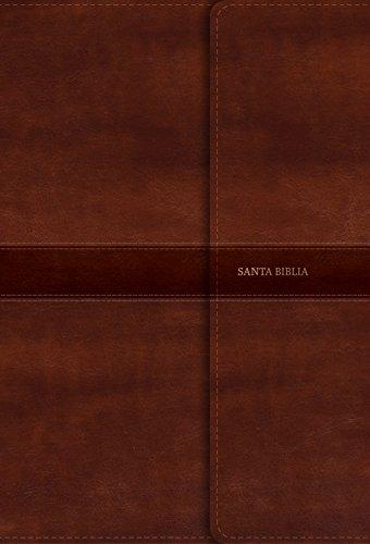 RVR 1960 Biblia Letra Gigante marrón, símil piel y solapa con imán (Spanish Edition)