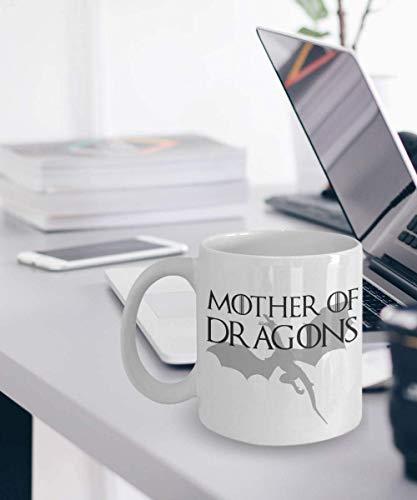 N\A Taza de la Madre de los Dragones Taza de té de café Taza de Juego de Tronos Taza de té de café Taza de Daenerys Targaryen Taza de té de café Regalos de la Madre de los Dragones