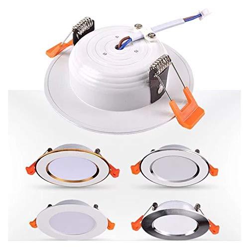 yywl Downlight 220V LED Downlight del Punto del LED Downlight Regulable 5W 7W 9W 12W 15W empotrada en el Techo Downlight LED de luz fría calienta la lámpara Blanca