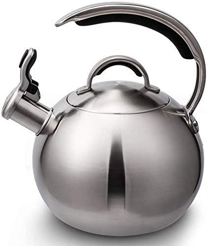 Knoijijuo Pfeifender Wasserkocher Für Gaskochfeld, Herd-Top-Edelstahl-Wasserkocher Mit Ergonomischem Griff, Pfeifender Teekessel