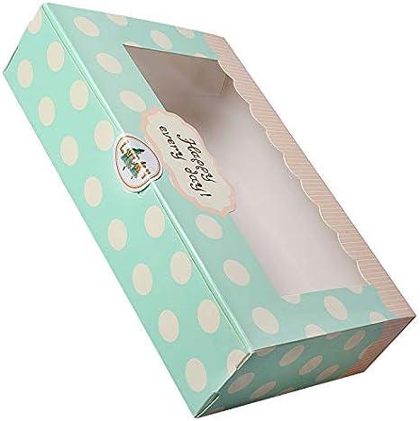 Xhuan 25 cajas de papel para tartas, galletas, magdalenas, pastelería, cajas de regalo