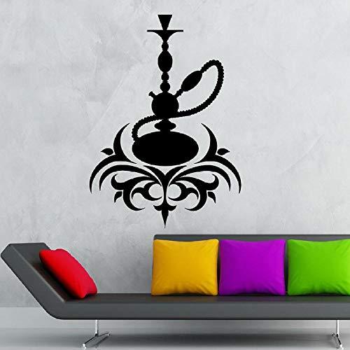 Wandaufkleber,Vinyl Wandtattoo Kaffee Kultur Arabica Rauchen Wasserpfeife Rauch Shisha Fenster Aufkleber Schlafzimmer Mann Cave Wohnkultur Kunst-74X104 Cm