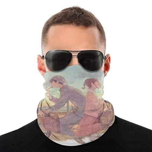 MAY-XCustom Unisex Headband,da Up On Poppy Hill Head Wrap, Visiere Ad Asciugatura Rapida per La Caccia in Bicicletta,25x50cm