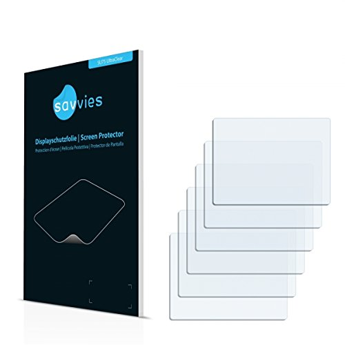 6x Savvies SU75 UltraClear Bildschirmschutz Schutzfolie Olympus C-50 (Kristallklar, Blasenfreie Montage, Passexakter Zuschnitt)