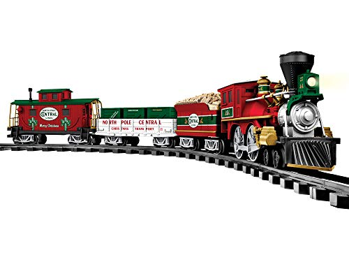 Lionel North Pole Central Ready-to-Play Battery Powered Model Train Set with Remote, Multicolor, 50 x 73'