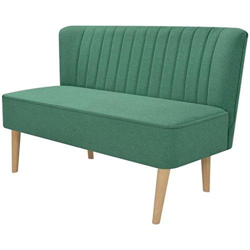 vidaXL Sofa 2-Sitzer Stoffsofa Loungesofa Couch Stoff 117 x 55,5 x 77 cm Grün