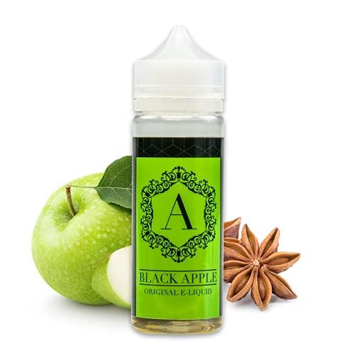 Erste Sahne Shortfill E-Liquid für E-Zigaretten - Nikotinfreies Aroma - Vape Liquid - Made in Germany - Shake & Vape Bottlefill - 100 ml - Black Apple