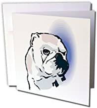 Cute and Cuddly Canine English Bulldog Head - Greeting Cards, 6 x 6 inches, set of 12 (gc_128986_2)