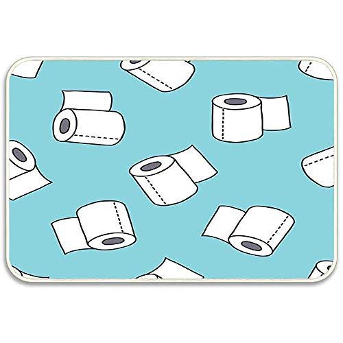 OUSHENGMAOYI Slijtvaste Mat Doodle Patroon Toiletpapier Binnenkant Deurmatten Anti-slip Wasbaar Welkom Mat 60X40Cm