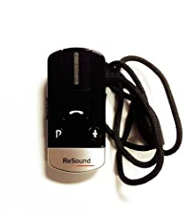 Resound phone clip for connecting to your cell phone to your hearing aids. This is the Phone Clip+ that only works with ReSound wireless hearing aids. Please consult your hearing aid professional before ordering. This product must be synchronized wit...