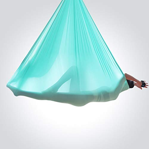 Best Buy! Slow Time Shop Yoga Pilates Aerial Silk Kit 5M Yoga Swing Flying Hammock Swing Aerial Yoga...