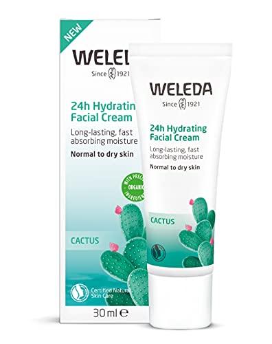 WELEDA Feigenkaktus 24h Feuchtigkeitscreme, feuchtigkeitsspendende Naturkosmetik Gesichtscreme für...