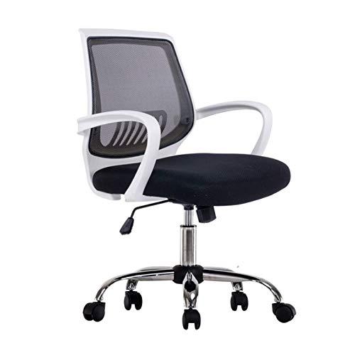 CSD Silla de Oficina Silla de Oficina Empleado de Vuelta butaca Impermeable y Duradera de Back Office Silla (Color : White)