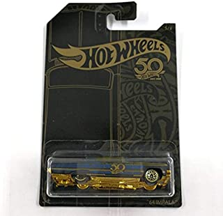 مجموعة سيارات من دييكاست آند توي - هوت ويلز، إصدار أسود ذهبي 50 من المعادن في قوالب من السيارات الخشبية من هوت وييلز (FRN3...
