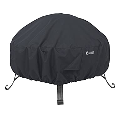 Classic Accessories 55-552-010401-00 Round Fire Pit Cover, 30 , Black
