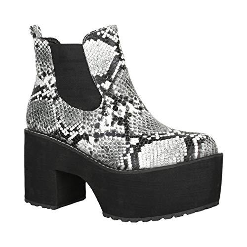 Elara Dameslaarzen Plateau Ankle Boots Chunkyrayan