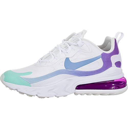 Nike W Air Max 270 React - White/Light Blue-Aurora Green, Größe:10