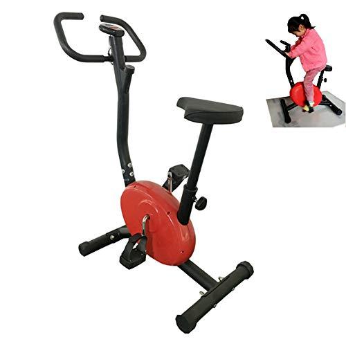 WSCQ Kinder Heimtrainer, Indoor-Fahrrad Verstellbare Widerstandsstufen und Sitzhöhe Geeignet für Jungen und Mädchen von 100-140cm, Fitnessgeräte für Kind