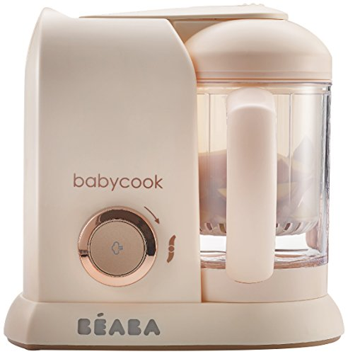 BEABA Babycook 4 in 1 Steam Cooker & Blender and Dishwasher Safe, 4.5 Cups, Rose...