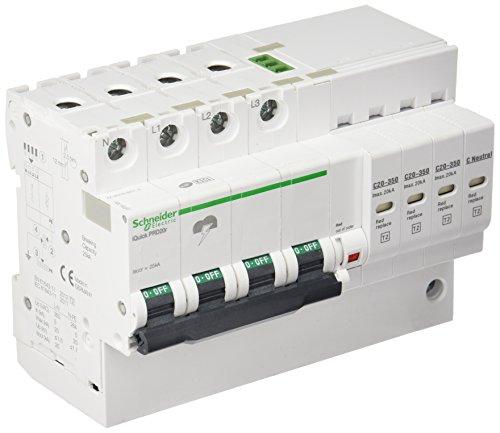 Schneider Electric A9L16297 Limitador Sobretensión iQuick Prd20R 3P+N, 350V con Transferencia Remota