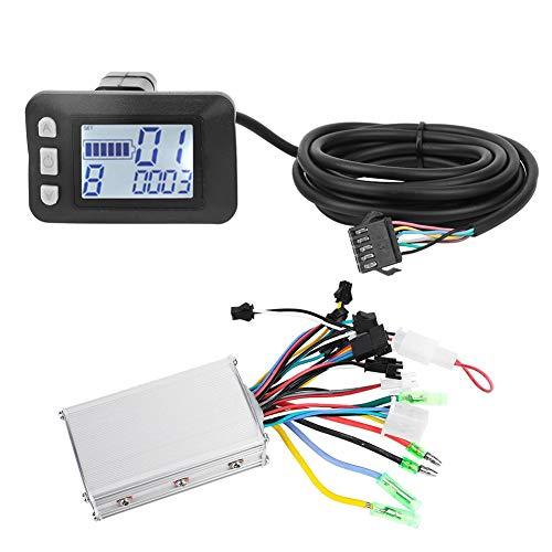 Changor Controlador de Motor eléctrico, 36 V Hecho de plástico y LCD y Metal 350W 63 * 40 * 40mm