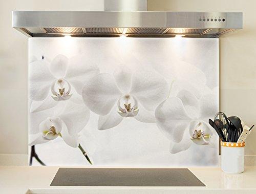 Credence, Fond de hotte - Orchidées blanches
