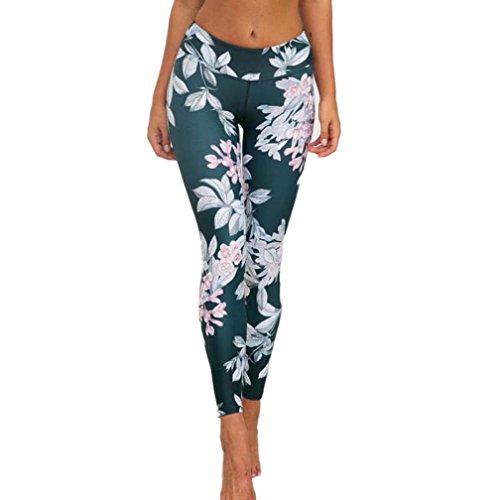 Elecenty Yogahosen Sporthose Damen,Dünne Leggings Yoga Hosen Strumpfhose Activewear Reizvolle Blumenmuster Trainingspants Hose Fitnesshose...