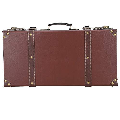 Atyhao Maleta Antigua de Madera, maletín de decoración Vintage con asa, Estante, Vitrina,...