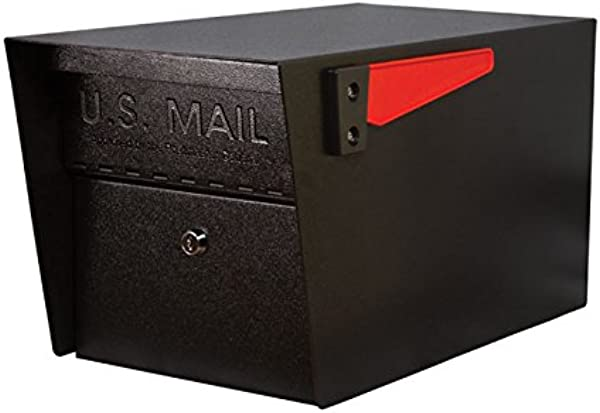Mail Boss 7506 Mail Manager Curbside Locking Security Mailbox Black