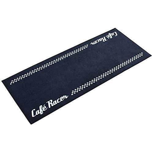 Biketek GRGMAT53 Moto Série 3 Café Racer Tapis de garage en fibre de nylon durable 190X80CM