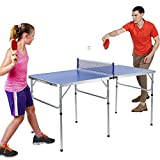 Estink Table Tennis Table Set,Durable Indoor Table Tennis Set Pong Accessory with Net Foldable Table Tennis...