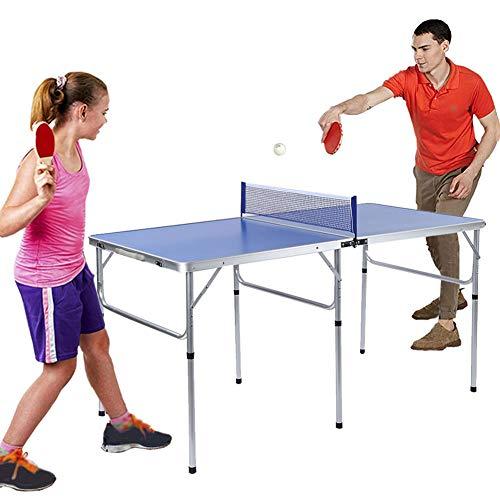 Ejoyous Mesa de Tenis de Mesa, Mesa de Ping Pong Plegable Juego de Tenis de Mesa Interior 2 Raquetas 3 Pong Fácil de almacenar y Duradero 152 x 76 x 76 cm