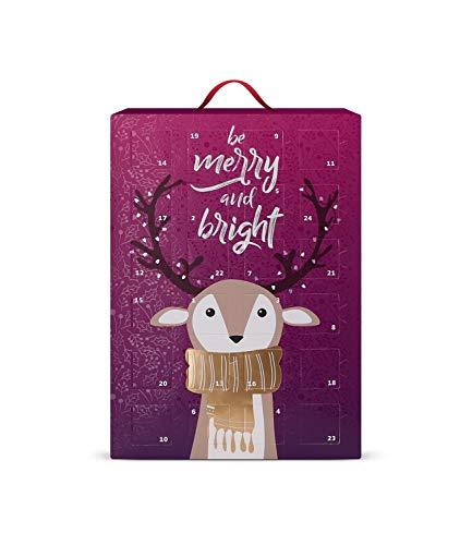SIX Schmuck-Adventskalender für Frauen Be Merry and Bright mit 24 schicken Überraschungen zum Aufhängen oder Hinstellen (388-352)