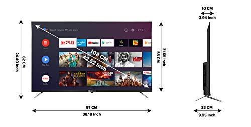 Kodak 108 cm (43 inches) 4K Ultra HD Smart LED TV 43CA2022 (Black) (2021 Model)   With Dolby Digital Plus & DTS Tru Surround