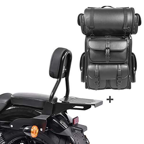Respaldo CL Fix + Bolsa Trasera LX para Harley Sportster 1200 CA Custom 13-16