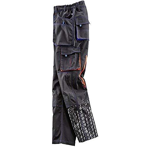 Terrax Work Wear kinder bandbroek zwart/oranje/marine incl. MIH sleutelhanger