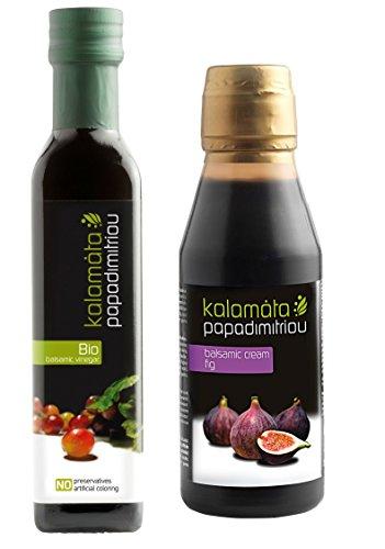Bio Balsamico Essig + kaltgepresstes extra natives Olivenöl | Salatdressing | griechisches Olivenöl | griechischer Essig | je 250 ml | by ARISTOS (Bio Essig + Crema)