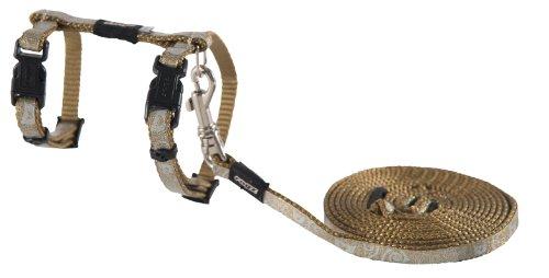 Rogz Catz SparkleCat Lead and Harness, Extra Small, Bronze