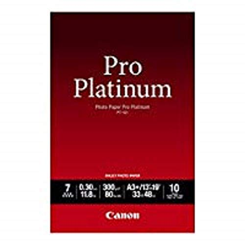 Canon Photo Paper Pro Platinum, 13 x 19 Inches, 10 Sheets (2768B018)