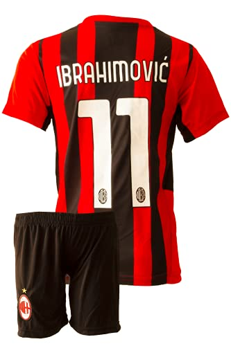 IHIMI Milan Zlatan Ibrahimovic Kinder Trikot #11, 2021/2022 Saison, Heim, Komm mit Shorts Fußballfans (12-13 Jahre,176)