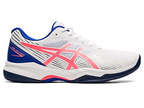 ASICS Women's Gel-Game 8 Tennis Shoes, 8.5, White/Blazing Coral