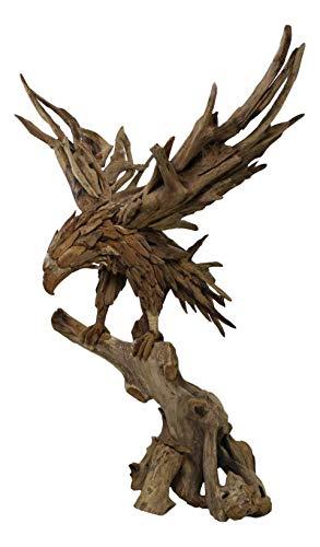 Beho Natürlich gut in Holz Adler aus Wurzelteakholz 75x45x90 cm Deko Figuren Unikat