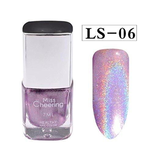 Fulltime 1PC 7ml Nail Powder Pas de vernis à ongles Art Glitter Silver (F)