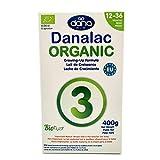 DANALAC Organic Latte in Polvere per la Crescita 400 gr Fase 3 Latte Artificiale per Lattanti e Bambini 1-3 Anni (Confezione da 1)