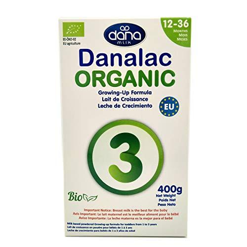 DANALAC ORGANIC 3ème âge - Lait de croissance bio en poudre pour enfants de 1 à 3 ans - 1 boîte de 400 g