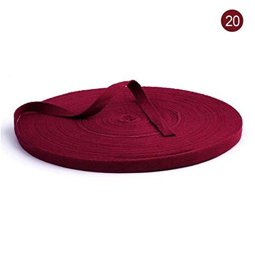 10 Meter/Packung 1 cm mehrfarbiges Fischgräten-Band, gewebte Baumwolle, Nähen, Overlock-Tuch, Gürtel, DIY-Zubehör, Farbe 20, 10 mm